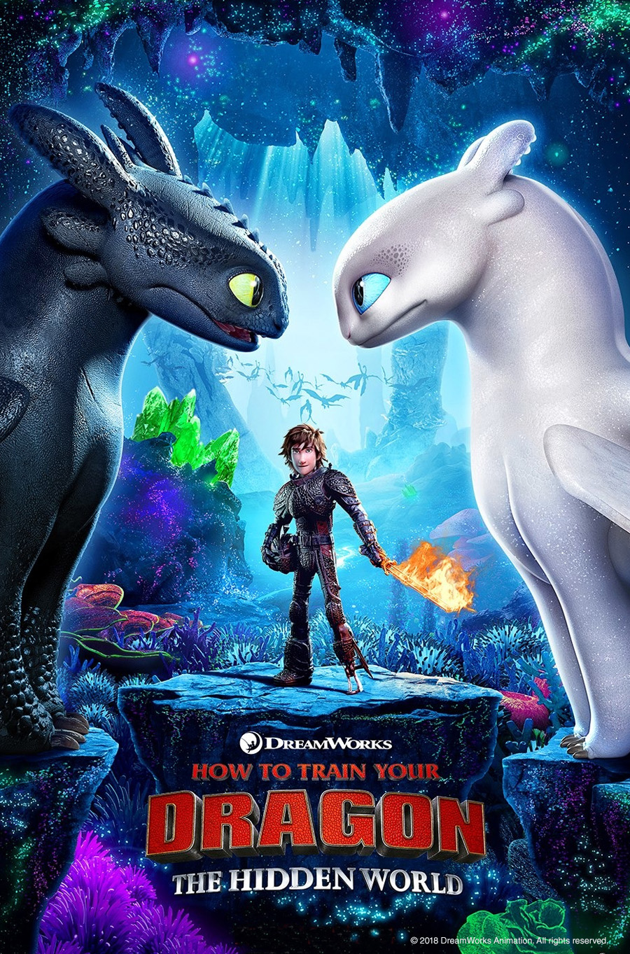 "Photo of a poster for ""How to Train Your Dragon—The Hidden World"" on Aug. 3, 2019."