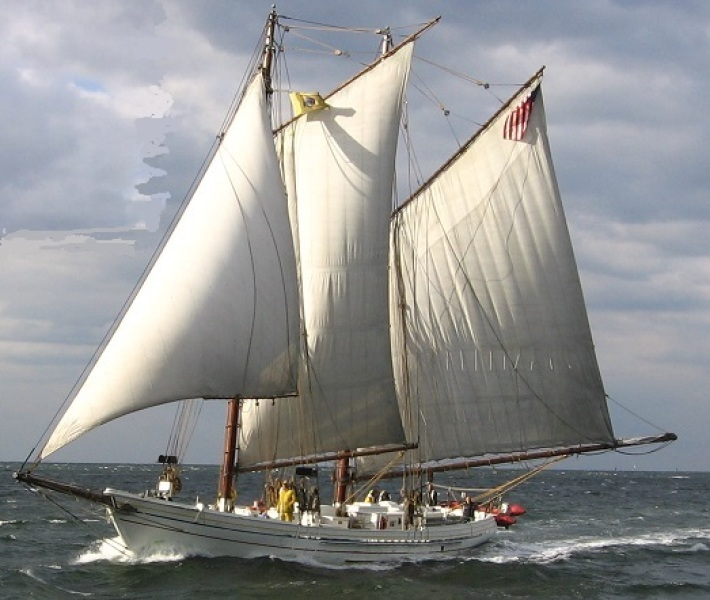 Photo of the schooner A.J. Meerwald