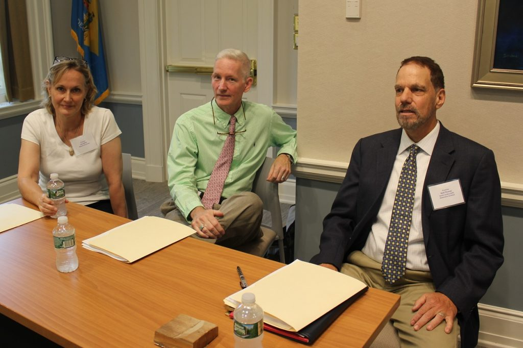 Photo of historic preservation symposium panelists. (From left) Lisa Deline of the National Park Service; and John Wood and Reid Thomas of the North Carolina State Historic Preservation Office