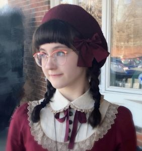 "Photo of Abigail Davis who will be conducting the program, ""History A-Dressed on Nov. 23, 2019."