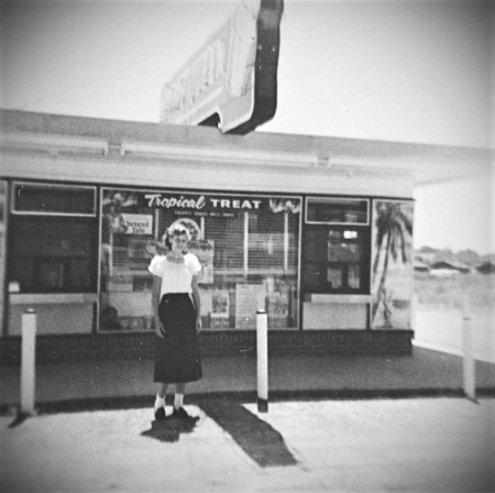 Photo of Joyce Parker at the Dairy Palace in the 1950s