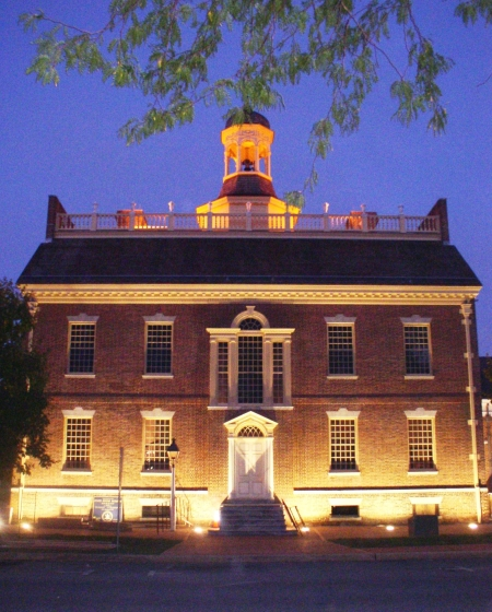 Photo of The Old State House at night