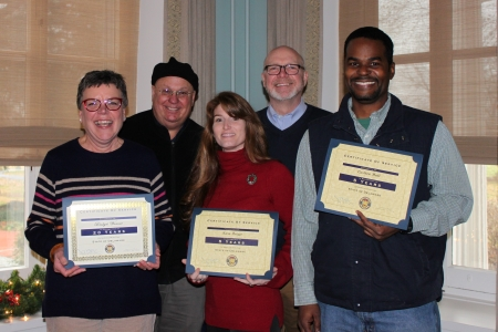 Photo of Delaware Division of Historical and Cultural Affairs' service-award recipients on Dec. 16, 2019