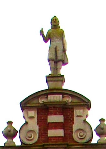 Photo of the statue of David Pieterszoon de Vries