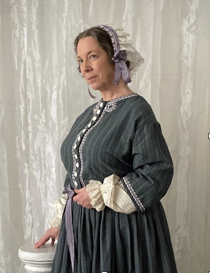 Kim Hanley of the American Historic Theatre portrays Elizabeth Cady Stanton