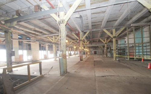 Photo of an interior section of the American Vulcanized Fibre Company plant