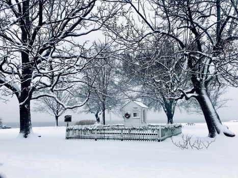 """Ticket Booth on a Snowy Day,"" photo by Savannah Bellon"