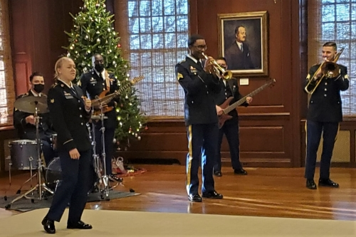 Photo of members of the 287th Army Band's jazz combo