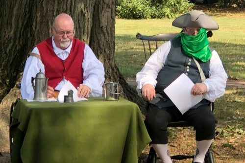 Photo of historical re-enactors Jack Witzman and David Price