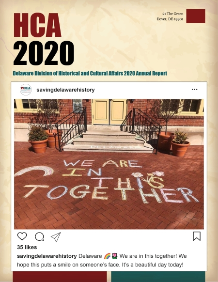 Photo of the 2020 Division of Historical and Cultural Affairs annual report cover