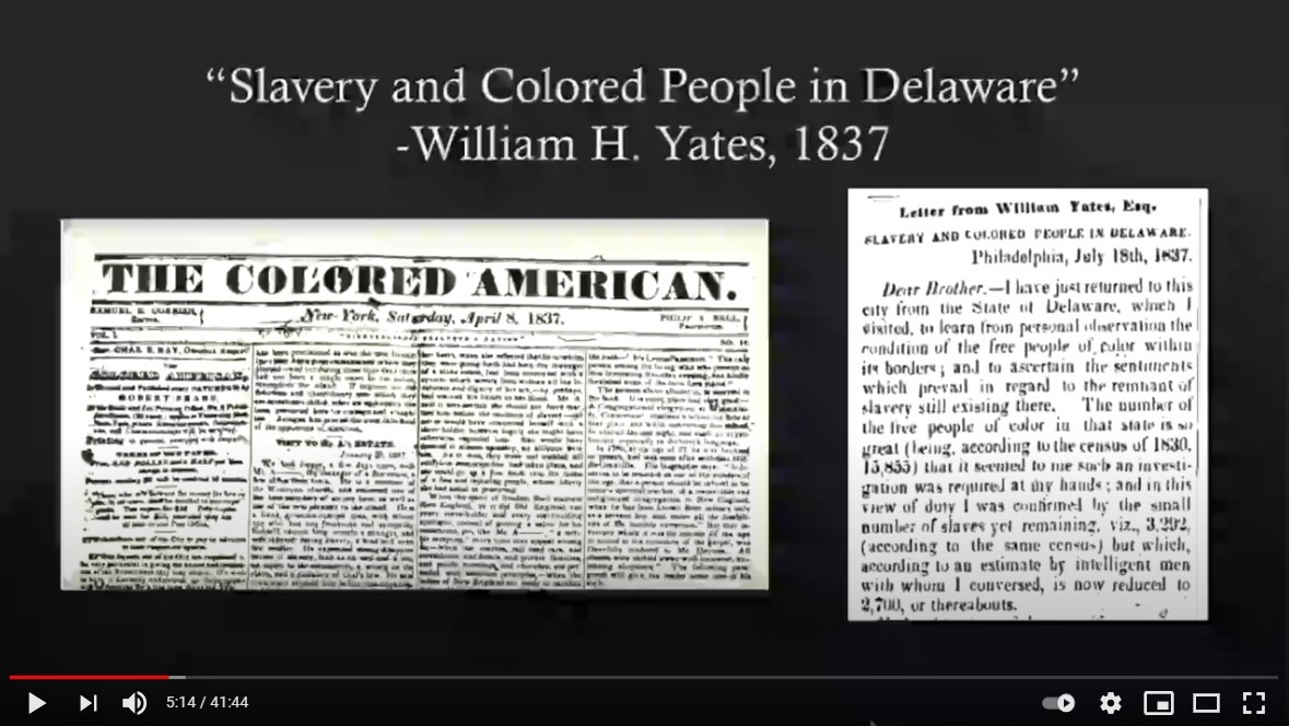 "Screenshot from ""A Mere Mock Freedom: Free and Enslaved Black Life in Delaware 1790–1840"""
