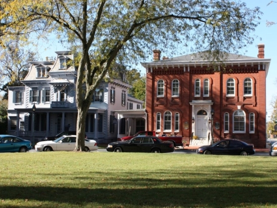 Photo of Capt. James P. Wilds House and Old Farmers Bank Building on the Dover Green