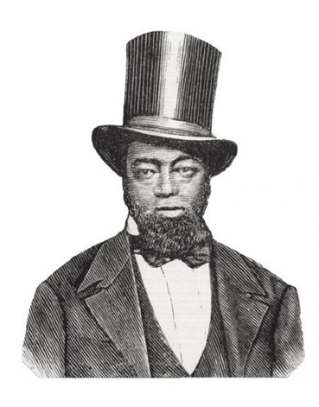 Etching of Samuel D. Burris