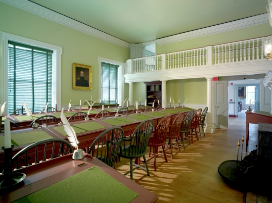 Photo of the House of Representatives chamber in The Old State House.